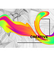 trendy abstract background with dynamic particles vector image vector image