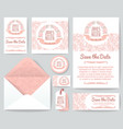 vintage wedding invitation greeting cards vector image vector image