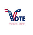 voting in usa design template poster flyer vector image vector image