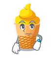 waiting banana ice cream in cone character