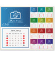 wall calendar for 2018 year design template with vector image vector image