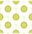 white seamless pattern with green floral elements vector image vector image