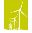 windmills vector image