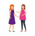 woman pregnancy with girl vector image