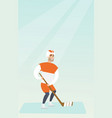 young caucasian ice hockey player vector image vector image