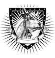 cow shield vector image