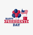 happy presidents day festive for greeting card vector image