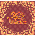 Valentines Day Party Poster Design Template of vector image