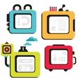 Cartoon banner machines vector image