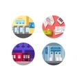 Subway flat icons vector image