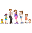 A big family vector image vector image