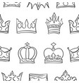 art crown sketch pattern vector image vector image
