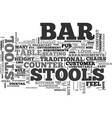 bar stools a buyers guide text word cloud concept vector image vector image
