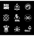 barbeque labels set vector image vector image