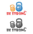 be strong sketch vector image