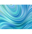 blue color water abstract smooth wave curve flow vector image vector image