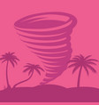 caribbean tornado against the backdrop of palm vector image vector image