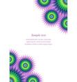 Colorful page ornament cover design template