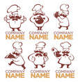 cooking symbols food and chef silhouettes vector image vector image