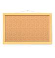 corkboard realistic blank corkboard with vector image