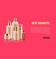 cosmetic bottle mockup ad vector image vector image