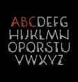decorative sanserif font vector image