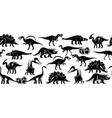 dinosaurus seamless pattern banner vector image vector image