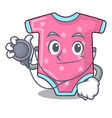 doctor character baby clothes hanging on vector image