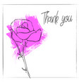 drawing flower of rose vector image vector image