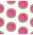 fresh watermelon slices pattern fruit vector image vector image