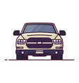 front view offroad car vector image vector image
