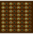 Game menu icons steampunk buttons set vector image vector image