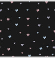 hand drawn seamless pattern with tiny hearts on vector image vector image