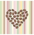 heart made of coffee beans vector image