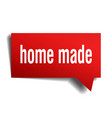 home made red 3d speech bubble vector image vector image