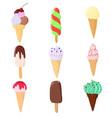ice creams vector image vector image