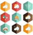icon weather forecast vector image vector image