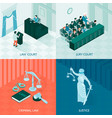 isometric law design concept vector image