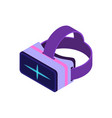 isometric virtual reality glasses vector image