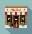 Italian Pizzeria Shopfront vector image vector image