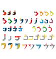 j alphabet symbols vector image vector image