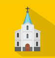kirche icon flat style vector image vector image