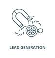 lead generation line icon linear concept vector image vector image