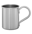 metal mug stainless steel cup aluminum tin flask vector image vector image