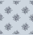 mistletoe seamless pattern hand drawn sketch vector image vector image