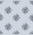 mistletoe seamless pattern hand drawn sketch vector image