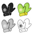 mittens icon in cartoon style isolated on white vector image