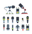 music and television microphones flat vector image vector image