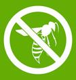 no wasp sign icon green vector image vector image