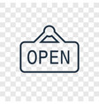 open linear icon isolated on transparent vector image
